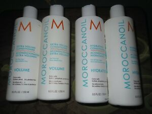 Lot of 4 Moroccanoil Hydrating Conditioner + Extra Volume Conditioner 8.45 oz