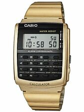 Casio Ca506g-9aef Unisex Gold Retro Calculator Watch