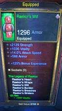 DIABLO 3 RoS XBOX 360 NEW MODDED LEGACY OF RAEKOR BARBARIAN SET USE AT LVL 1