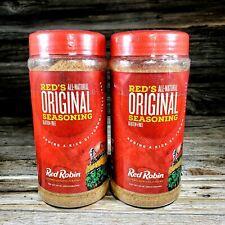 Pack of 2 Red Robin All-Natural Original Seasoning Bottles 16oz, Large