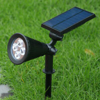 2X LED Solar Powered Spot Light Wall Outdoor Garden Yard Path Lawn Lamp Security