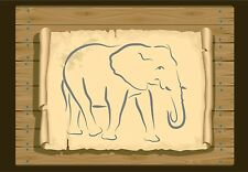 Side View of an African Elephant Stencil  350 micron Mylar not thin stuff #Ele