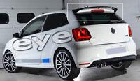 VW POLO MK5 V MK6 VI WRC VISTA POSTERIORE SPOILER TETTO SPOILER ALETTONE