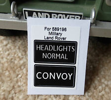 Land Rover Series Military FFR IR Lightweight Convoy Light Switch Decal 589196