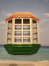 FISHER PRICE LOVING FAMILY TWIN TIME DOLL HOUSE REPLACEMENT BAY WINDOW GREEN TRI