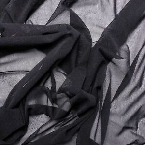Stretchy Netting fabric - 4-way stretch - Black, navy, off-white - Dress fabric