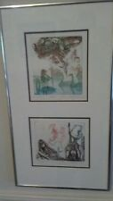 SANDOR HARTUNG 2 original limited edition etching IDEA and WITCHES signed framed
