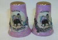 Vintage Moriage Tijuana OLD MEXICO Souvenir Salt Pepper Shaker Set