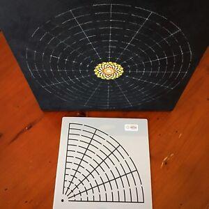 Quarter Mandala Stencil large for Dot Painting mandalas template art dotting