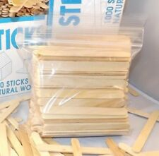 "200 pieces Wood Craft Sticks Popsicle Sticks 4 1/2"" x 3/8"""