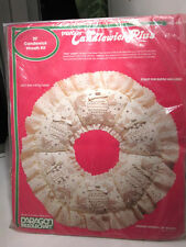 "Vintage 1983 Paragon 20"" Candlewick-Plus  Christmas Wreath Embroidery Kit #6849"
