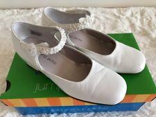 Girls Jumping Jacks White Leather Dress Shoe, Size US 13 M