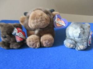 Biff the Buffalo Puffkins Nutty and Grizwald Plush Stuffed Animal Swibco NWT