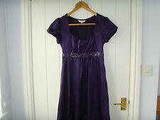 Ladies New Look Purple Bubble Dress Size 8 Cap Sleeve Knee Length