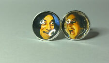 Young Frankenstein, Marty Feldman and Gene Wilder Glass domed cufflinks