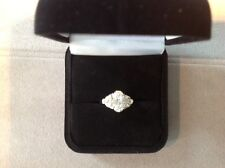 VCA D color 2.02ct total 3ct Oval Diamond Ring, GIA paper