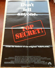 Top Secret movie poster, folded, One Sheet, 1984, Paramount Pictures, Val Kilmer