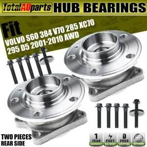 2Pcs  Rear LH RH Wheel Bearing Hub for Volvo S60 384 V70 XC70 295 D5 2001-2010