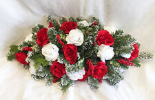 Red Christmas Centerpiece Swag Silk Wedding Flowers Arch Chuppah Table Runner