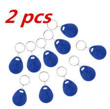 2 Pcs Keyfobs Key Token Tag Proximity ID Chain 125Khz EM4100 RFID