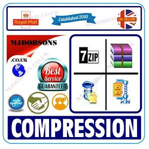 ZIP Unzip Unrar Archiving Software RAR WinRAR WinZIP 2021 Edition + CD