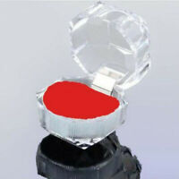 40x Wholesale Mixed Plastic Crystal Lots Jewelry Ring Display Storage Box Red #B