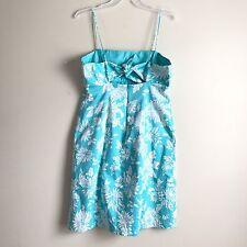Jones Wear Womens Dress 16 Floral Print Thin Strap Plus Size Open Back Bow Knee