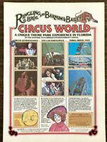 1979 Ringling Bros and Barnum & Bailey Circus World Theme Park Orlando Print Ad