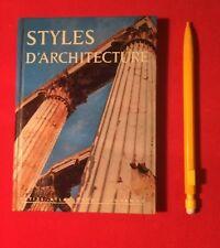 STYLES D'ARCHITECTURES 17 PETITS ATLAS PAYOT LAUSANNE GRADMANN BON ÉTAT LIVRE