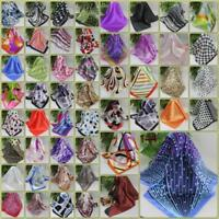 New Fashion Vintage Women Silk Satin Scarves Ladies Small Square Wrap Head Shawl