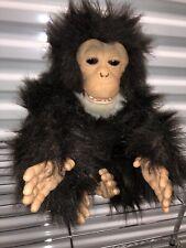 "FurReal Friends Cuddle Chimp Plush Monkey Animated Toy 14"" Hasbro Tiger 2005"