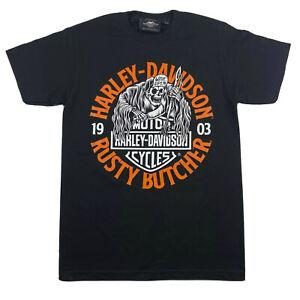 Harley Davidson T-Shirt Men's *Choose Size* Black 1903 Butcher Grim Reaper Biker