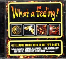 WHAT A FEELING 41 FEELGOOD FLARED HITS THE 70'S & 80'S DOPPIO CD SEALED