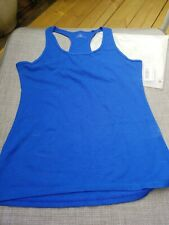 Floating Time Tank Top Women's Size Large Sapphire workout yoga New