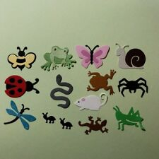 14 INSECT BUGS CRITTERS DIE CUTS EMBELLISHMENTS SNAKE ANTS DRAGONFLY FROG BEE