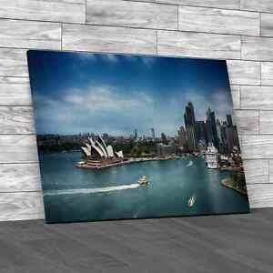 Sydney Harbour Skyline Canvas Print Large Picture Wall Art