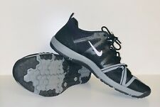 women's 10 Nike free cross complete training shoes 749421-001 black crossfit