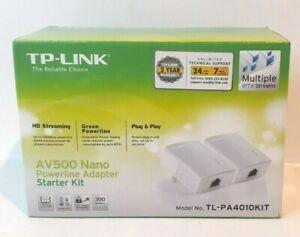 TP-Link TL-PA4010 KIT AV500 500Mbps Nano Powerline Ethernet Adapter Starter Kit
