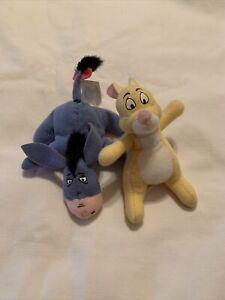 Disney McDonald's Winnie the Pooh Eeyore Rabbit Mini Plush Happy Meal Toys