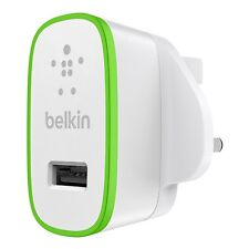 Belkin MixIt Colour Range 2.1 Amp USB AC Wall Charger UK Plug - White