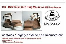 LZ MODELS RESIN SET M36 TRUCK GUN RING W/ M2 BROWNING GUN   Scala 1/35 Cod.35442