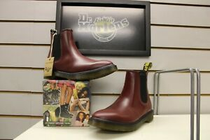 Men's Dr Martens 2976 Cherry Red Smooth Leather Chelsea Boots UK Size 8 EU 42