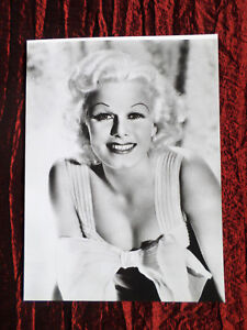 JEAN HARLOW  - FILM STAR- MODERN BLACK AND WHITE PHOTOGRAPH SIZE 6 X 7.75