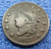 1827 Large Cent   #1827LC nice coin