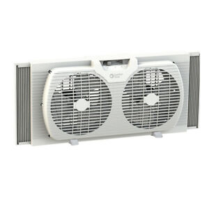 Comfort Zone 9 inch Twin Window Fan with Reversible Airflow Control (Open Box)