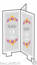 Table Place Cards, Tent Style Numbers 1 - 24, Creative Converting Table Markers