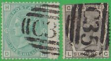 GB Used Abroad in PANAMA COLOMBIA C35. 2 stamps.