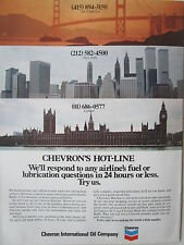 7/1973 PUB CHEVRON OIL AIRLINES NEW-YORK TWIN TOWERS LONDON SAN FRANCISCO AD