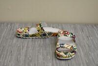 J Slides Edie Slide Sandal - Women's Size 7.5M - White/Fuschia Raffia