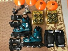 Roces Rollerblade Inline Skates Womans Size 6 Green with Accessories
